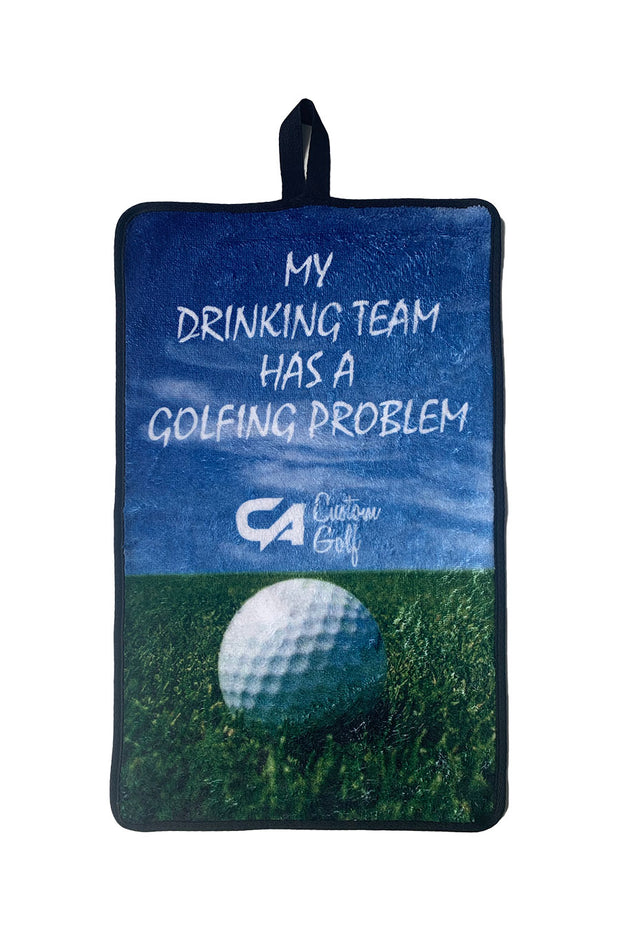 "CA Golf Towel | ""Drinking Problem"""