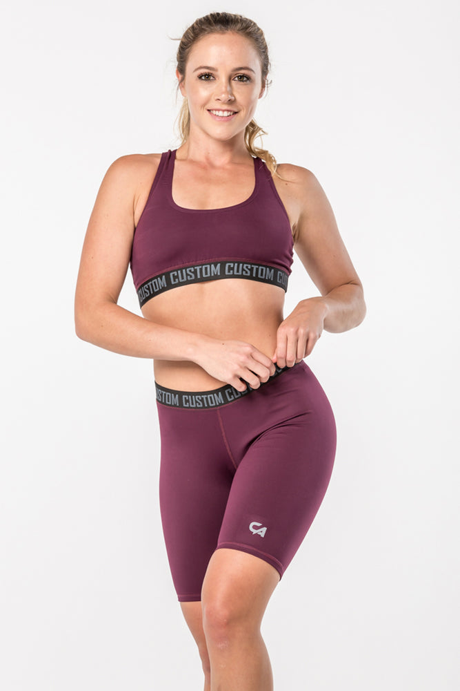 CA Ladies Crop Top | Burgundy