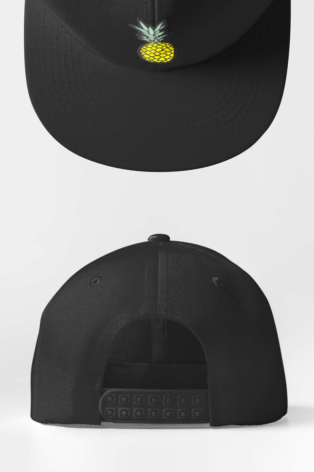 Custom Golf Snap Back Cap | Black Pineapple