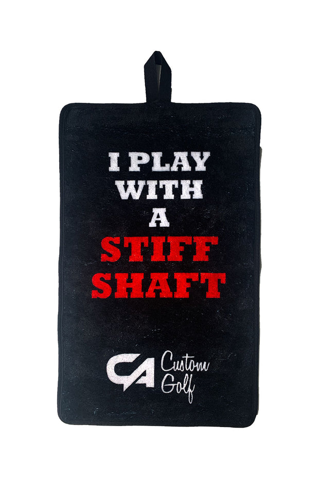 "CA Golf Towel | ""Stiff Shaft"""