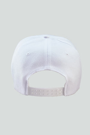 Custom Golf Snap Back Cap | White / Black