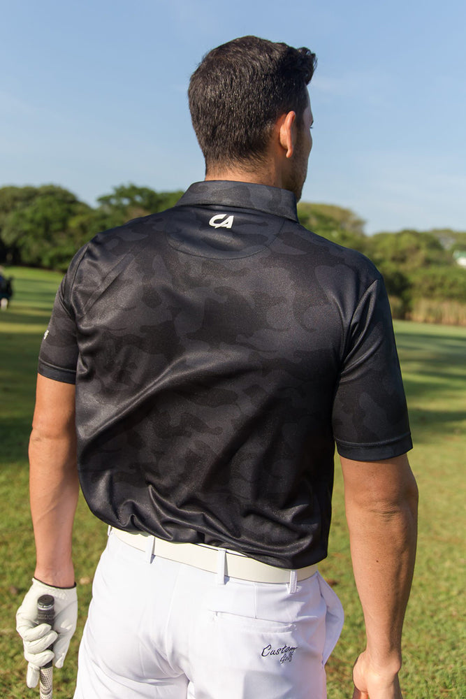 CA Camo Golf Shirt | Black / Camo