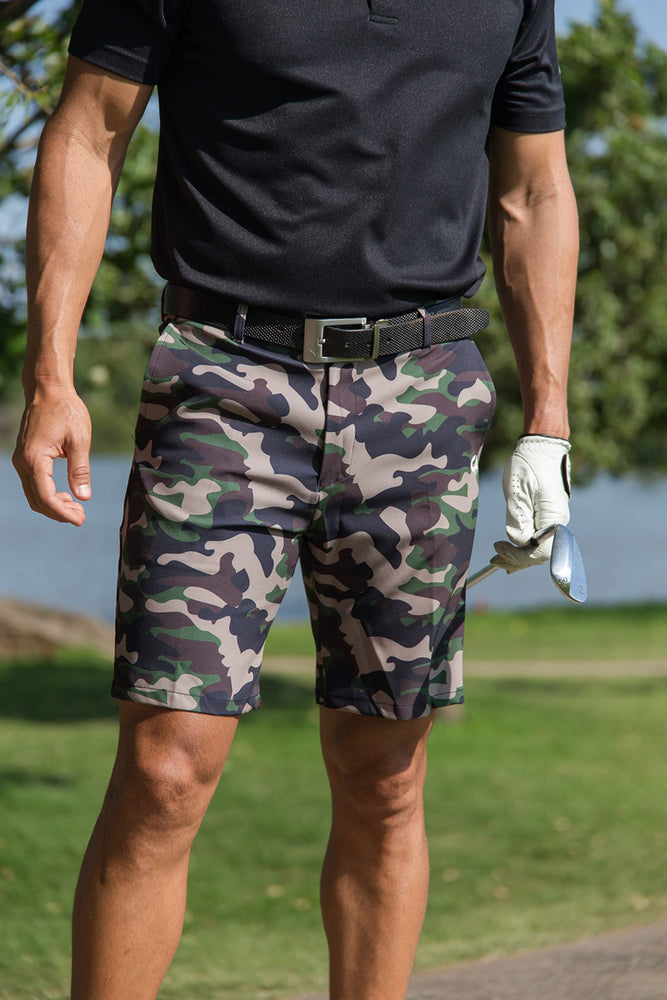 CA Motion Golf Shorts | Camo