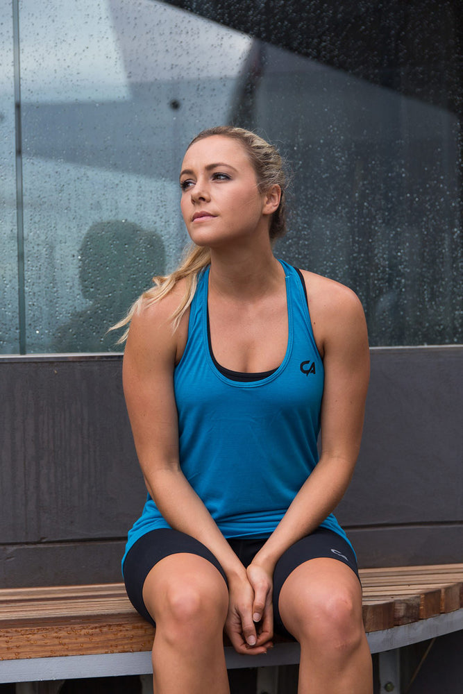 CA Ladies Gym Vest | Sky Blue