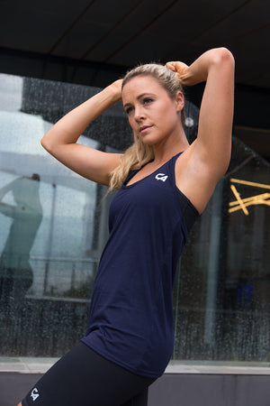 CA Ladies Gym Vest | Navy