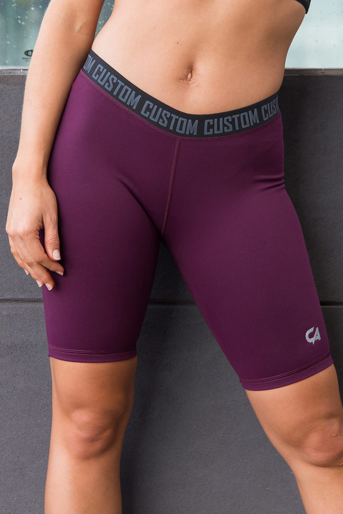 CA Ladies Short Tights | Burgundy