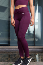 CA High-Waisted Platinum Tights | Burgundy