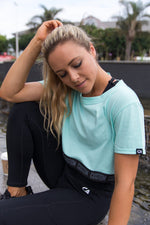 Custom Crop Top Tee | Turquoise
