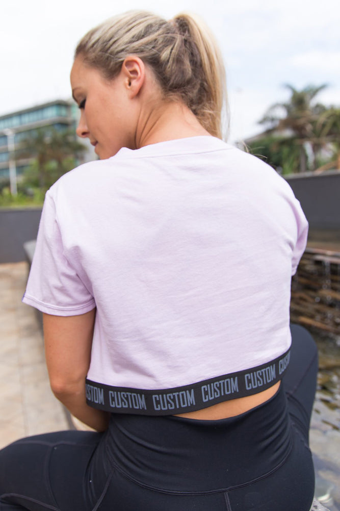 Custom Crop Top Tee | Lilac