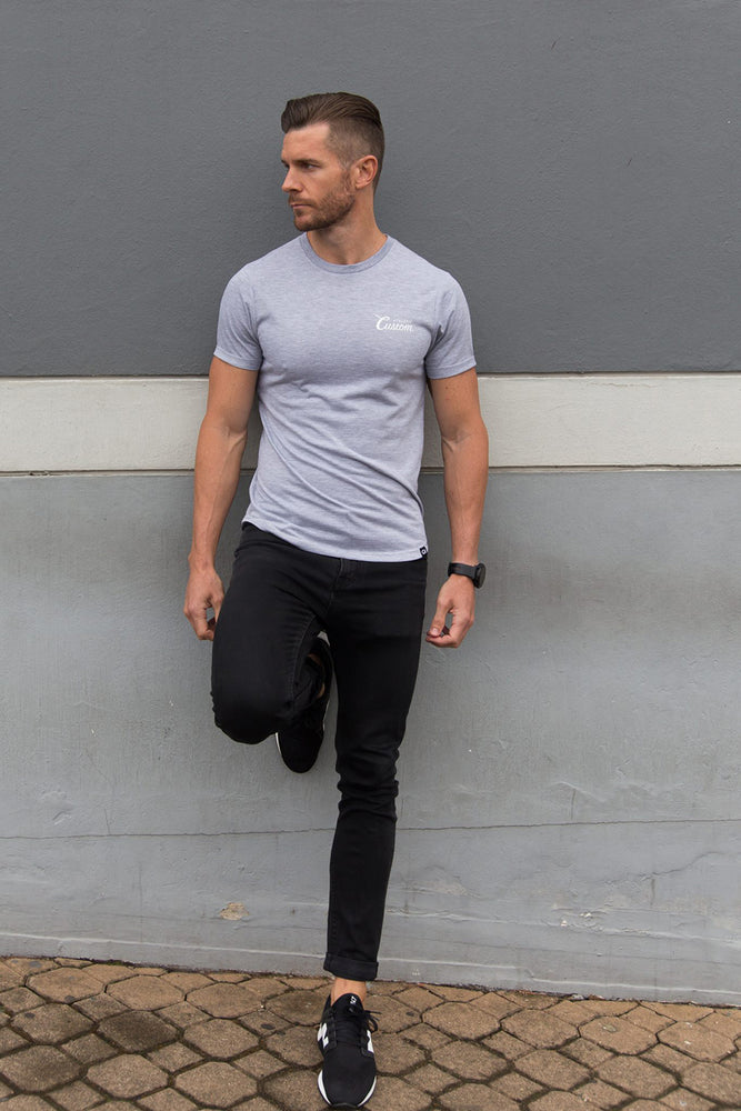 Custom Original Shaped Tee | Grey