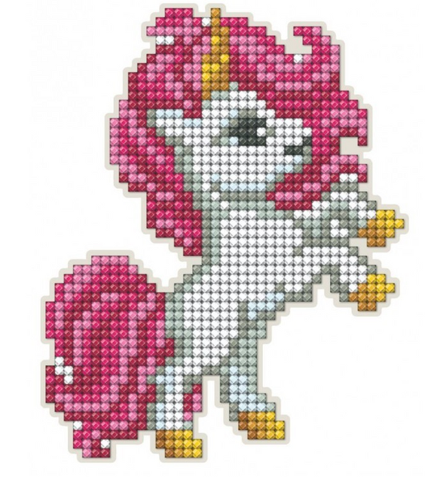Diamond Painting Magnet Kit - Pink Unicorn