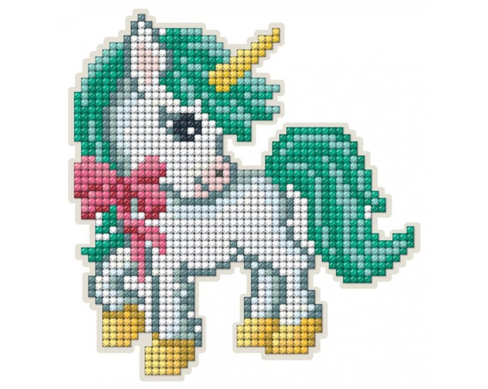 Diamond Painting Magnet Kit - Unicorn with a Bow