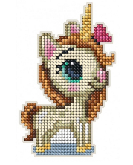 Diamond Painting Magnet Kit - Unicorn Looking Up