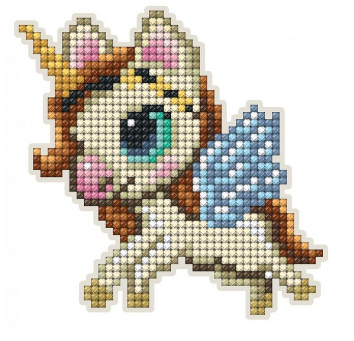 Diamond Painting Magnet Kit - Unicorn With Wings