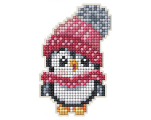 Diamond Painting Magnet Kit - Penguin With Pink Hat