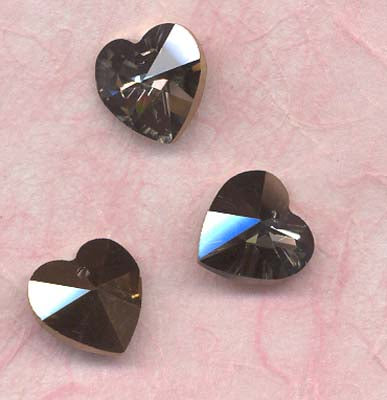 Gem Pendants Heart 14x13mm