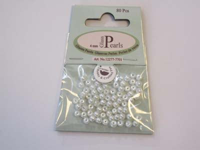 Glass Pearls 4mm