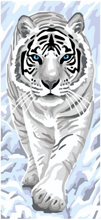 Útsaumur - White Tiger
