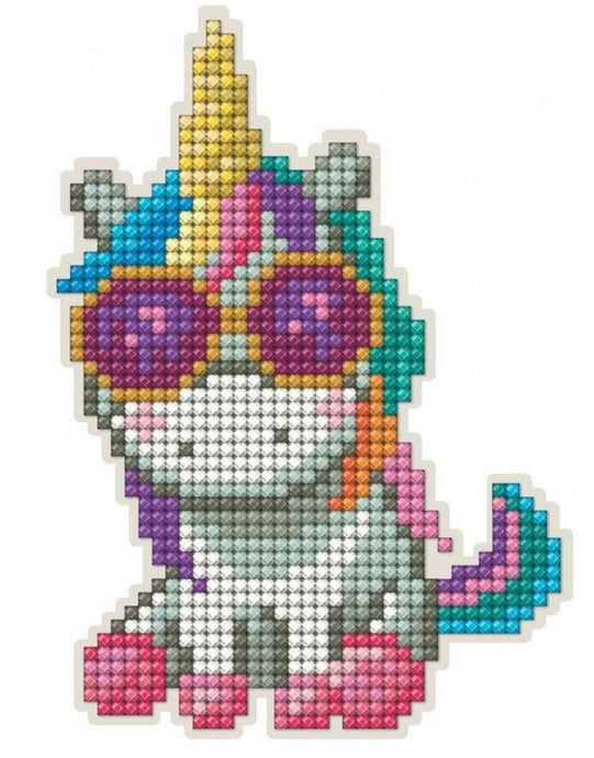 Diamond Painting Magnet Kit - Unicorn with Sunglasses