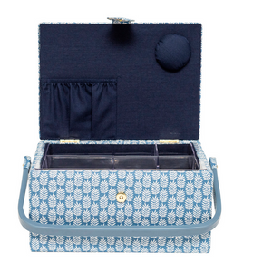 Blue Fern Sewing Basket