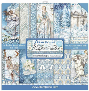Scrapbook pappír - Pack 10 sheets double face: Winter Tales