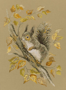 "Útsaumur - Cross-stitch kit ""Autumn Story"""