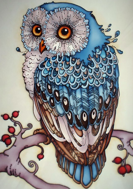 Diamond Painting - Blue Owl