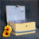 Yellow Leaf Sewing Basket