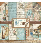 Scrapbook pappír - Pack 10 sheets double face: Music