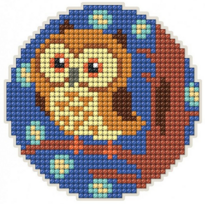 Diamond Painting Magnet Kit - Owl on a branch