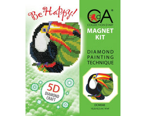 Diamond Painting Magnet Kit - Exotic Bird