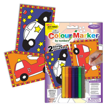 My First Colour By Numbers - Cars