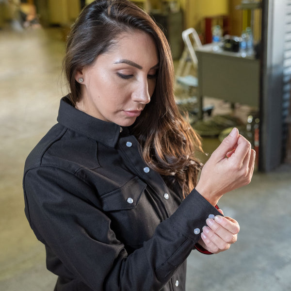 Tobacco Riveter Riding Shirt for ladies