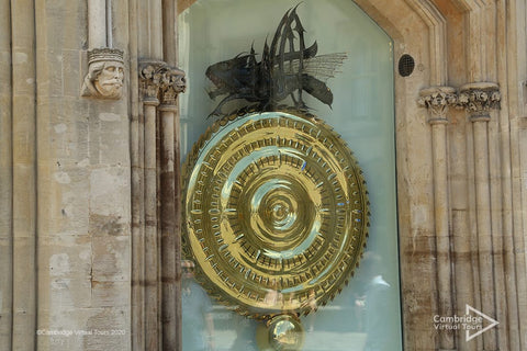The Corpus Clock opposite Kings College Cambridge in UK