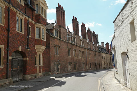Pembroke Street walking tour in Cambridge in UK