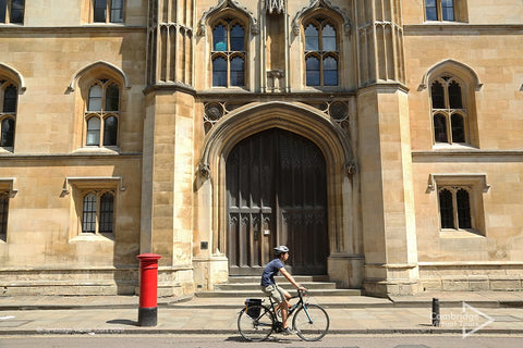 Bike at Corpus Christi College University of Cambridge in UK
