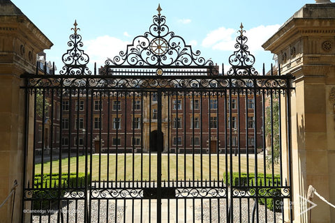 Gate of St Catharine's College at University of Cambridge UK