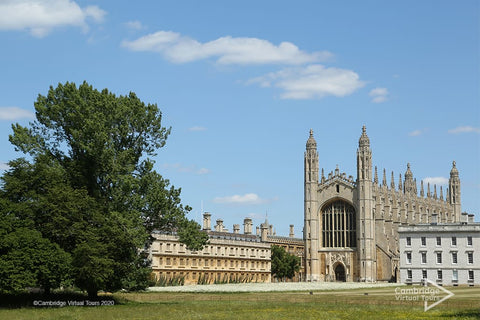 road view of King's College Cambridge at University of Cambridge UK