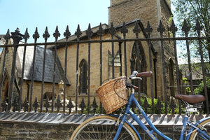 Bike in front of St Bene't's Church Cambridge UK