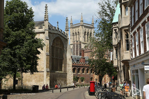 view of St Johns College Cambridge University UK