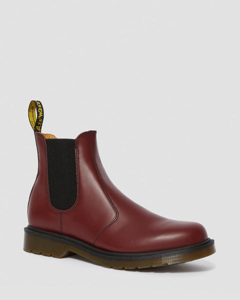 Dr Martens DMs Docs 2976 Cherry Smooth LEATHER Chelsea Boots Pull On - 53 Main Street