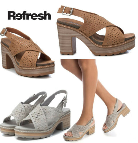 Ladies Platform Sandals Refresh Block Heel fashion Summer Beach Sling Back Comfy - 53 Main Street