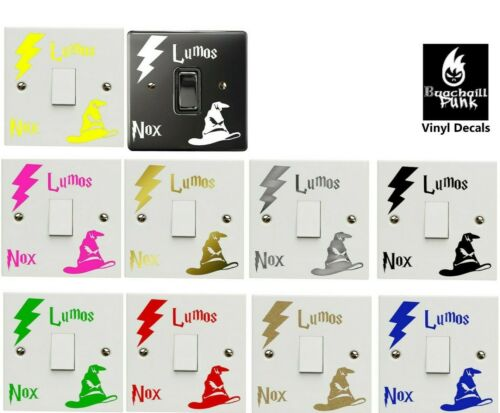Harry Potter Light Switch Sticker Decal Lumos Nox Lightswitch Vinyl Black Gold - 53 Main Street