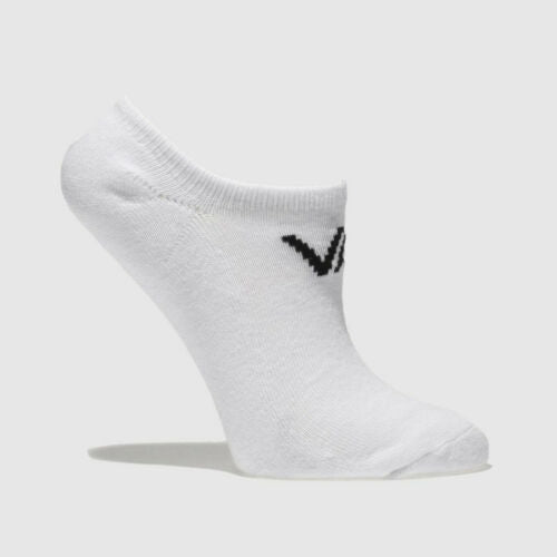 Vans Mens Socks Trainer Liner 3 Pack No Show Cotton Rich White Invisibles Shoes - 53 Main Street