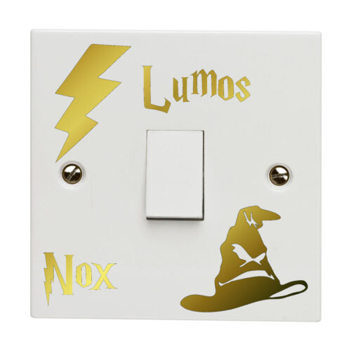 Harry Potter Light Switch Sticker Decal Lumos Nox Lightswitch Vinyl Bedroom Gold - 53 Main Street