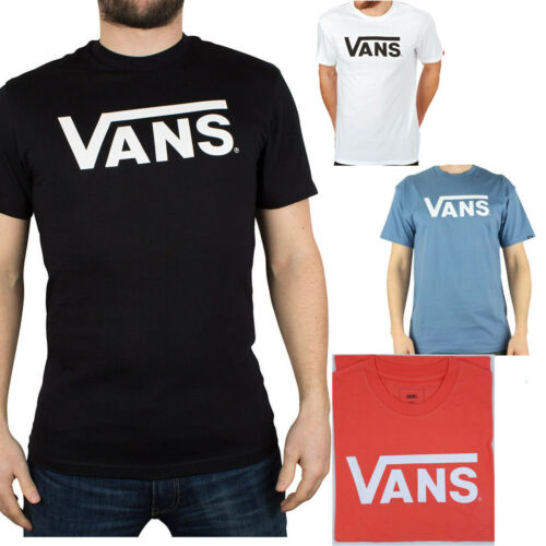 Mens Vans T-Shirt Classic Black White Blue Shirt Print Short XS,S,M,LG,XL XXL - 53 Main Street