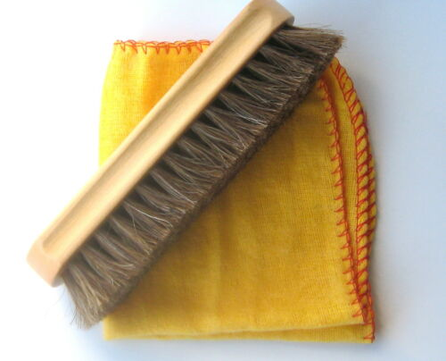 Shoe Brush Polish Kit Free Cloth 100% Pure Horse Hair Bristles Shoes Boots Set - 53 Main Street
