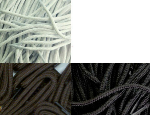 Shoe Laces 120 90 75 65 cm Cord Black Brown White Long Round Shoelaces - 53 Main Street