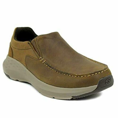 Skechers Mens Slip On Brown Memory Foam Relaxed Fit Comfort Lightweight Flexible - 53 Main Street
