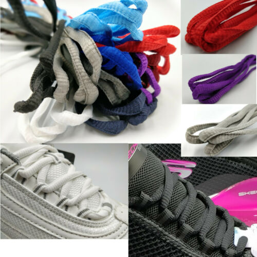 Oval Trainer Laces Shoelaces Coloured Semi Round Laces Boots 7mm Chunky Pair - 53 Main Street